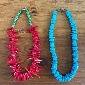 Pair of handmade Southwest style necklaces
